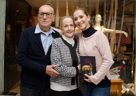 Ana Botafogo com os pais Ernani Fonseca e Maria Dulce