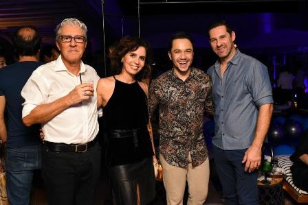 Claudia Haddad, Vinicius Belo e Claudio Tironi