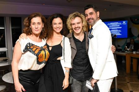 Claudia Wildberg, Caril Fazu, Yuri Ribeiro e Jorge Farjala