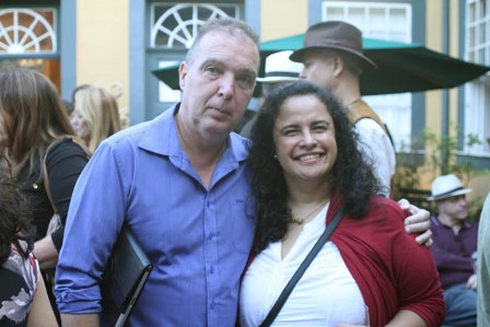 Bayard de Boiteux e a Consul da Argentina M. Florencia Riveros