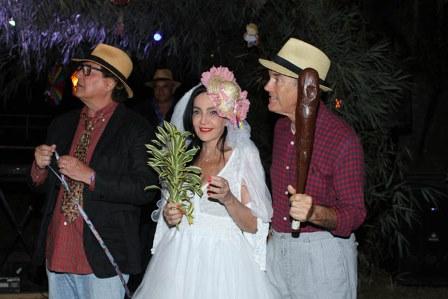 O casamento Nestor Rocha e Liliana e Paulo Fraga pai da noiva