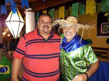 Luiz Eduardo Barreto Gomes com Jusimar Pedreira