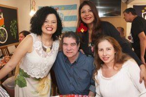 Elaine Tosta, José de Gervais,Jassy Oliveira e Ana Paula Souto