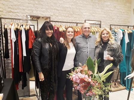 Adelma Fonseca, Amnom Czerny, Gerente Loja e Catia Garrido