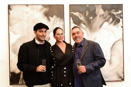 Cande Salles, Paula Klien e Marcus Lontra Costa