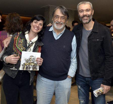 Isabel Guéron , Walter Lima Jr. e Ângelo Paes Leme