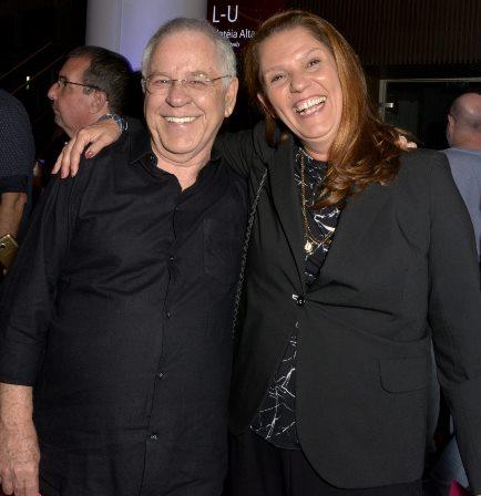 Nelson Motta e Patricia Andrade