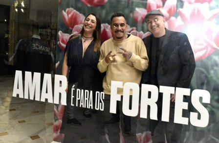 Andressa Sgarzy , Marcelo D2 e Marcelo Lobato