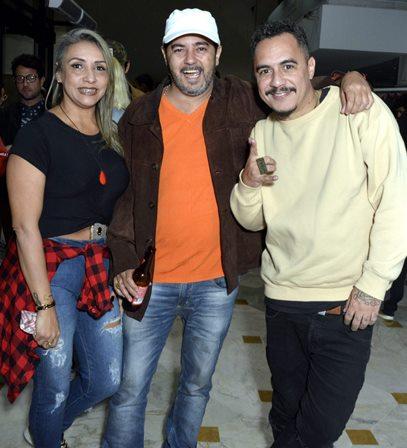 Luciana Lima , Marcelo Menezes e Marcelo D2