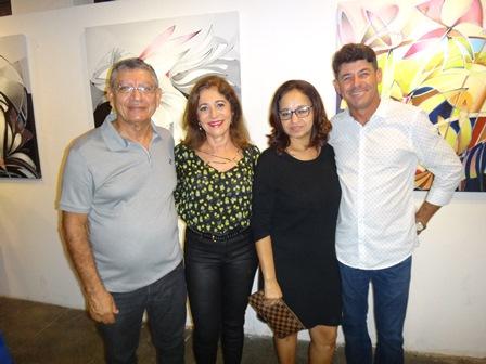Dilson e Angelica Barbosa com Neide Freitas e Pedro Lima
