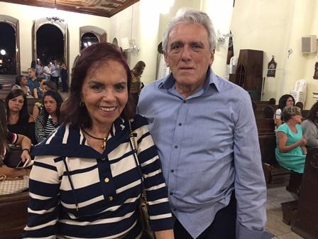Lígia com seu marido Raimundo Nonato Paiva