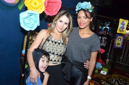 Zezinho Oliver, Jaqueline Oliver e Lidi Lisboa