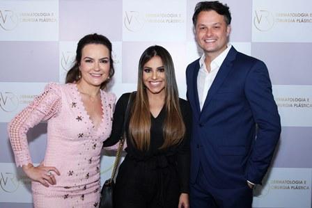 Aline Vieira, Gabriela Rocha e Flavio Rezende