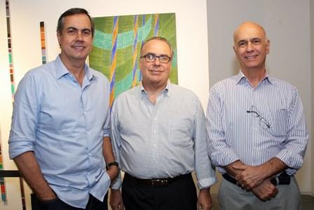 Luiz Roberto Sampaio,Carlos Leal e Luiz Pinto