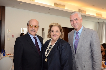 Claudio e Cristina Aboim e Scott Hamilton (Cônsul dos EUA)