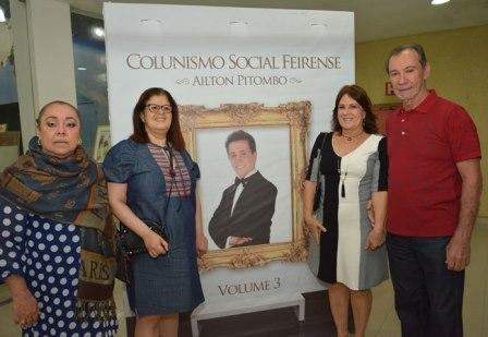 Colunista Lia Bernardes, Maira Mota, e os colunistas Ligia Mota e Gil Mario Oliveira