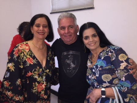 Diana Celi Torres com Edielson e Chistiann Lima