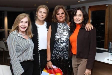 Constança Castelo Branco, Dione Saad, Rosana Rodrigues e Gloria Isabel Thompson Flores