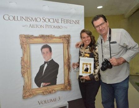 Maria Rita Carneiro Suzart e o colunista Emanoel Freitas