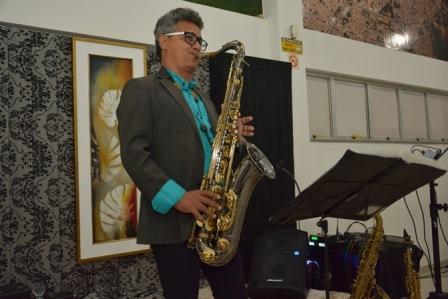 O saxofonista Marcos Piska