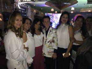 Pitombo com as Disignres de interiores Vera Brito, Silvia Batista, Graziela Sampaio, Daniela Cotias e Sheila Carvalho