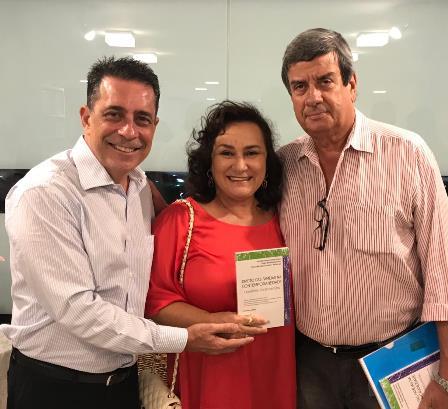 Sergio Barradas Carneiro, Nalva Rios e o prefeito Colbert Martins