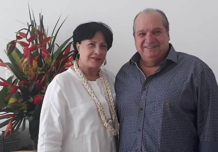 Sérgio Carvalho com Tania Mota Muniz Barreto