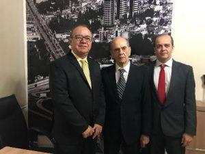 Presidente da Cämara Vereador José Carneiro Rocha, Ivan Kruschewsky e Ivan Kruschewsky Filho