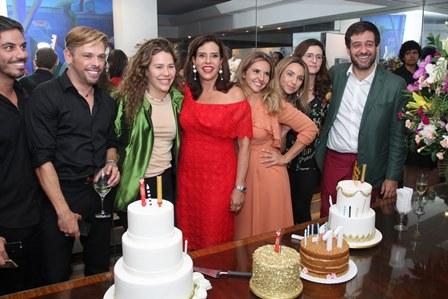 Diogo, Bruno, Catharina, Narcisa, Fernanda, Germana, Mariana e Bruno