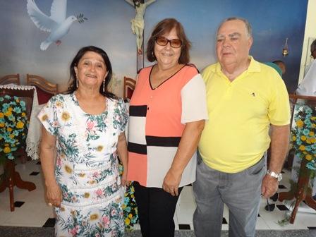 Carlota Oliveira com Cinira e Sebastião Soares