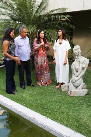 Cerimônia de entrega da escultura Leila Diniz