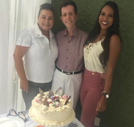 Com Marinalva Rios e a Miss Feira 2017 Carolina Lima