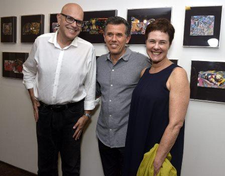 Frederico Dalton e o casal Nilton e Esther Bonder