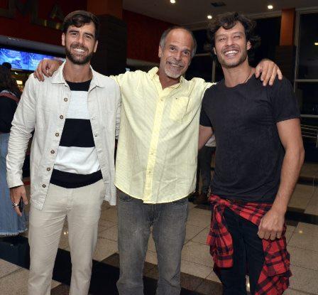 Marcos Pitombo com seu pai Marcos Pitombo e Nando Rodrigues