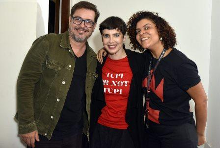 Leo Aversa   , Adriana Calcanhotto e Maria Gil