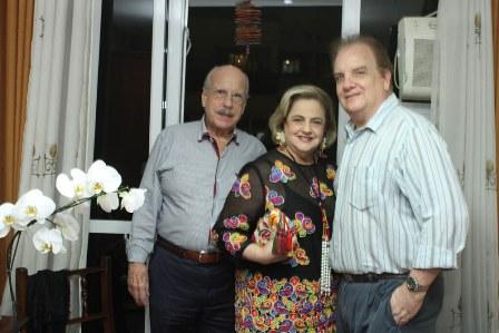 Claudio e Cristina Aboim com Rawlson de Thuin