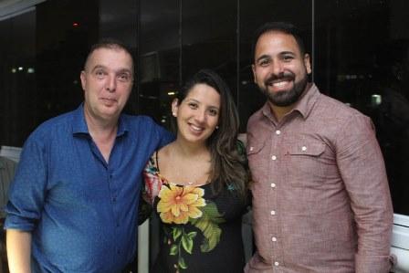 Bayard Boiteux, Raquel e Tiago Oliveira