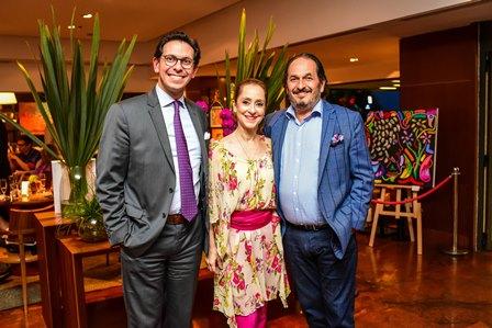 Netto Moreira, Ana Botafogo e Philipe Seigle
