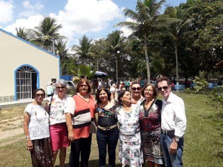 Representante do Women's Club Altamira Costa, Carlota Oliveira, Maria Aparecida carneiro Almeida, Cinira Soares, Marinalva Rios, Neilza Menezes e Ailton Pitombo
